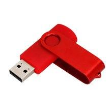 USB Flash Drive 64GB flash memoria 8GB 4GB usb stick 2.0 128GB waterproof pen drive 32GB Rotation pendrive 16GB free custom logo