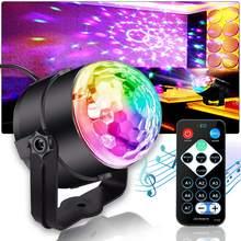 7 cores som ativado led strobe luzes do palco efeito luzes de festa bola luz de discoteca para o presente natal barra clube festa de aniversário