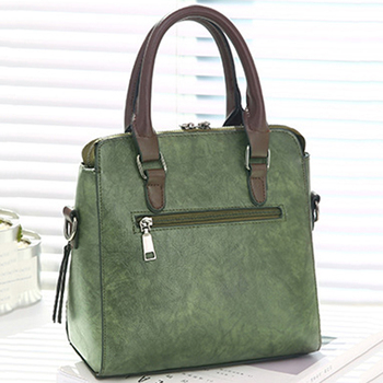 Luxury Vintage Ladies Leather Hand Bag Totes Tassel Crossbody Bag 8