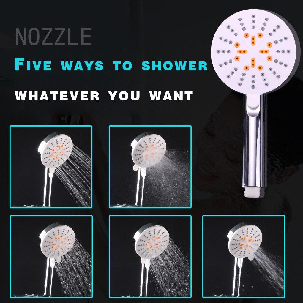 5 modları yağmur biçimli duş kafa kare su tasarrufu duş başlığı 3 modları el banyo sprey yüksek basınçlı memesi ABS kaplama anahtarı