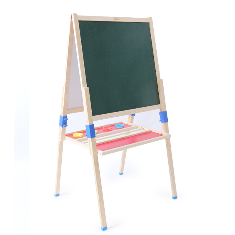CHILDREN'S Easel Height Adjustable Drawing Board Whiteboard Magnetic Blackboard Double-Sided Holder Wall Chart Style Graffiti Ba