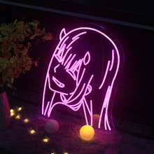 Neon Sign Custom anime dear frank Bedroom decoration Custom Neon Sign Light Pink Light Neon Wall Decoration(size is 50X66cm