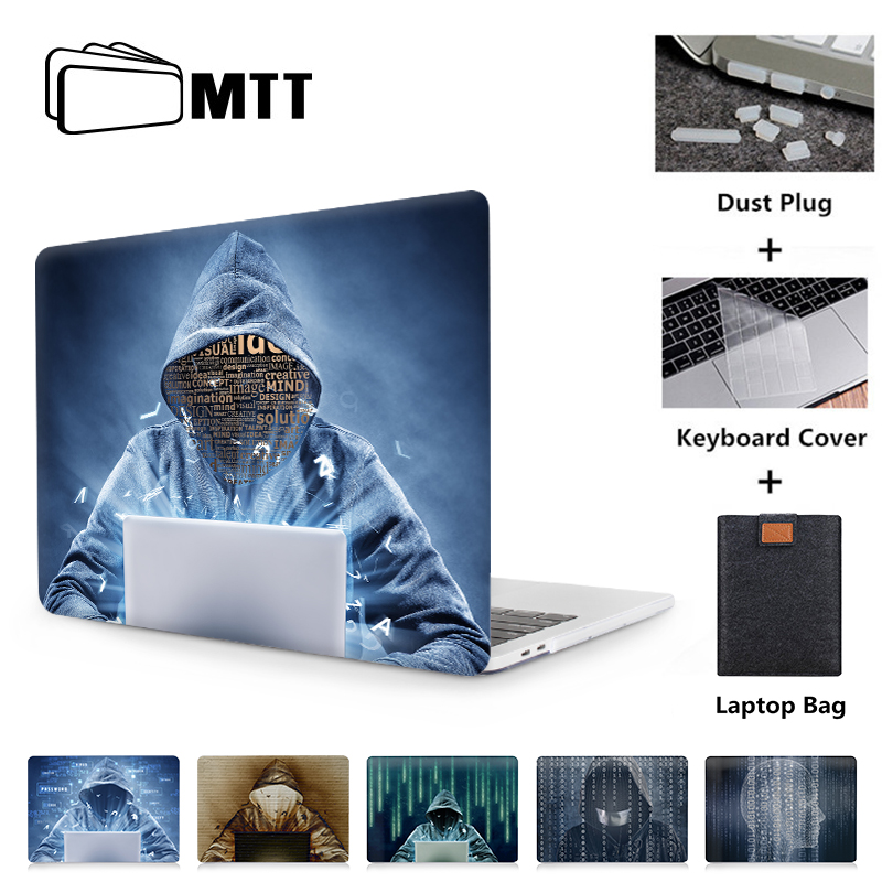 MTT For Apple Macbook Air Pro Retina 11 12 13 15 Inch Laptop Case With Touch Bar PC Hard Cover Mysterious Hacker Laptop Sleeve