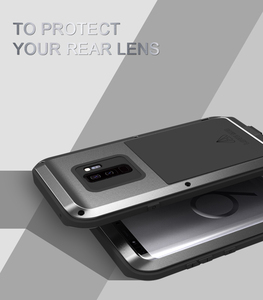 Image 4 - S10 Metal Phone Case on For Samsung Galaxy S10 S9 S8 Plus Shockproof Metal Armor Cover For Samsung S10E S9 S8 S10 5G S7 S6 Cases