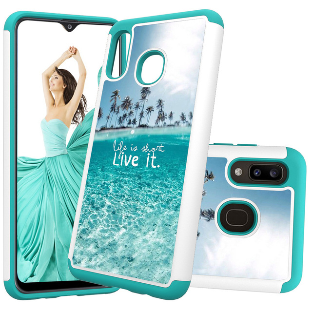 Lovely Painted Leather Phone Cases for Samsung Galaxy A20 A30 Case for Samsung A50 A20e A10e PC Back Cover Soft TPU Animal Coque