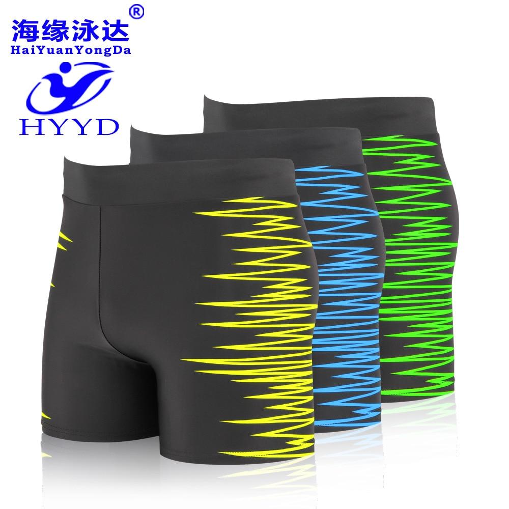 2019 Summer Men Printed Swimming Trunks-Style Quick-Dry Waterproof Swimming Trunks Large Size Hot Springs Beach Swimwear