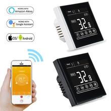 Termostato inteligente WiFi para calefacción de suelo, controlador de temperatura de calefacción de Gas y agua para habitación, Alexa, Google Home, 95-240V