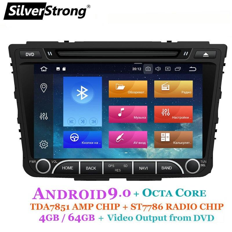 Dvd do carro de silverstrong ips 4g 64 gb android9.0 para hyundai creta ix25 2014-18 2din dvd opção de navegação de rádio 2g16g/dsp/tpms/dvr