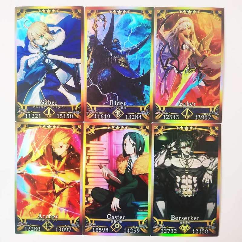62pcs/set Fate/FGO The Holy Grail War Alter Hobby Collectibles Game Collection Anime Cards Free Shipping Sexy Beauty