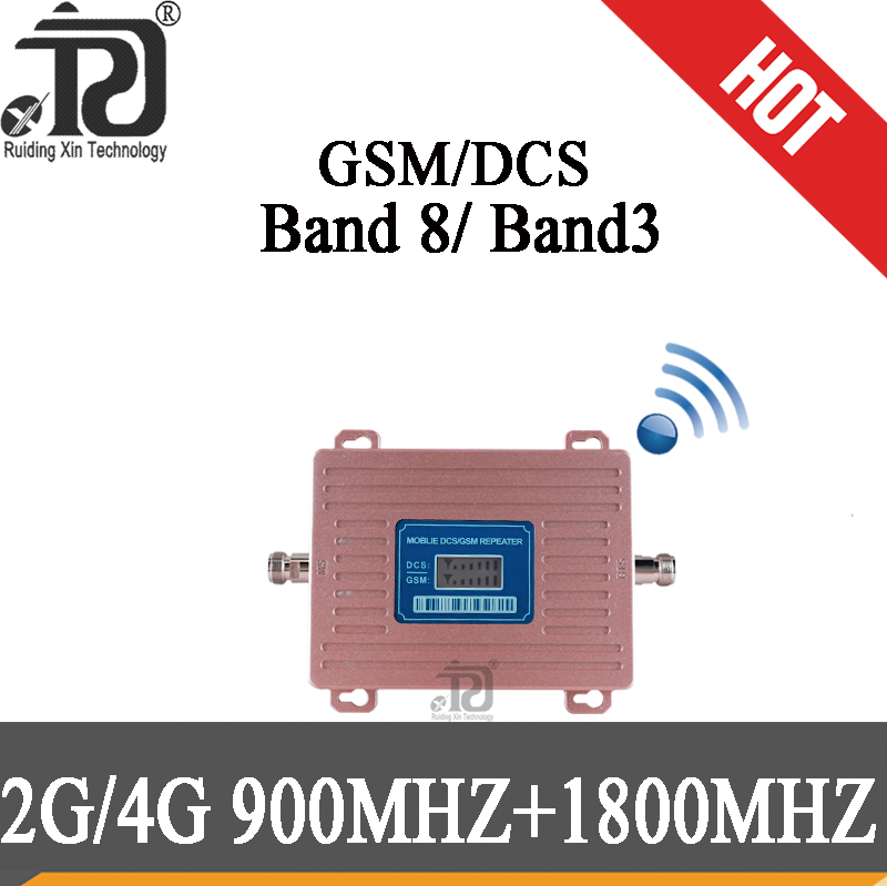 70dB Gain GSM 900 4G LTE 1800 Repeater GSM 1800mhz Mobile Signal Booster 65dB Dual Band Repetidor Celular 3G 4G Antenna