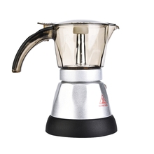 150ml/300ml 3-6 Cups 480W Electric Espresso Moka Pot Detachable Kitchen Stovetop Coffee Maker