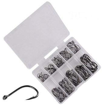 100pcs  Fishing Hook Set Size 3-12 Carbon Steel Fishhook Fly Fishing Jip Barbed Carp Hooks Sea Pesca Tackle Box Accessories 100pcs fishing hooks set carbon steel single circle fishhook fly fishing jip barbed carp hooks sea tackle accessories