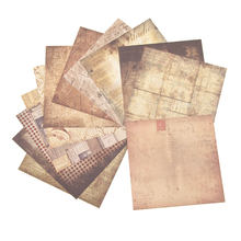 AHOMASH-Papel de fondo Vintage para álbum de recortes, 24 hojas decorativas, álbumes de fotos, fabricación de tarjetas de papel