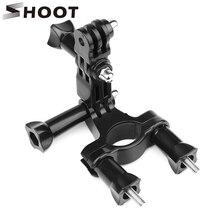 Atirar braçadeira de bicicleta guiador espigão pólo suporte montagem para gopro hero 9 8 7 preto xiaomi yi 4k sjcam sj8 eken go pro acessório