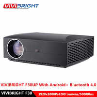 VIVIBRIGHT F30 LCD Projector FHD 1920 x 1080P 4200 Lumens 50000hrs Lamp Life Home Theater Proyector for Home Office 30UP Android