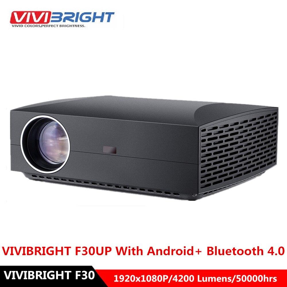 Vivibright f30 projetor lcd fhd 1920x1080 p 4200 lumens 50000hrs lâmpada vida proyector de cinema em casa para escritório em casa 30up android