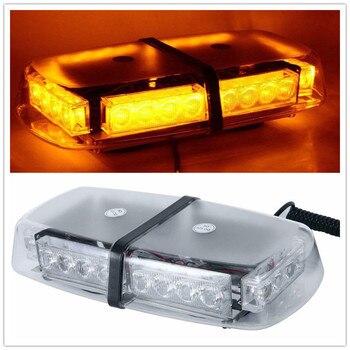 Stroboscope 24 LED Amber Car Roof Magnetic Emergency Hazard Warning Flash Strobe Light Lamp Car Truck Top Roof Stroboscopes 12V