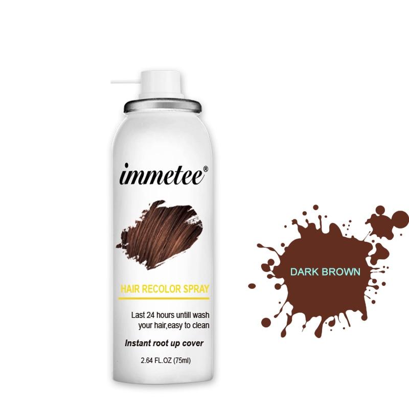 IMMETEE Hair Color Spray Hair Color Repair To Fill The Hair Color 75ml/Pcs Color Hair Healthy Hair Dye