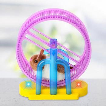 Hamster Roller Electric Toy Led Light Plush Hamster Runner Running Cage Ball New Strange Led Light Music Hamster Wheel 3