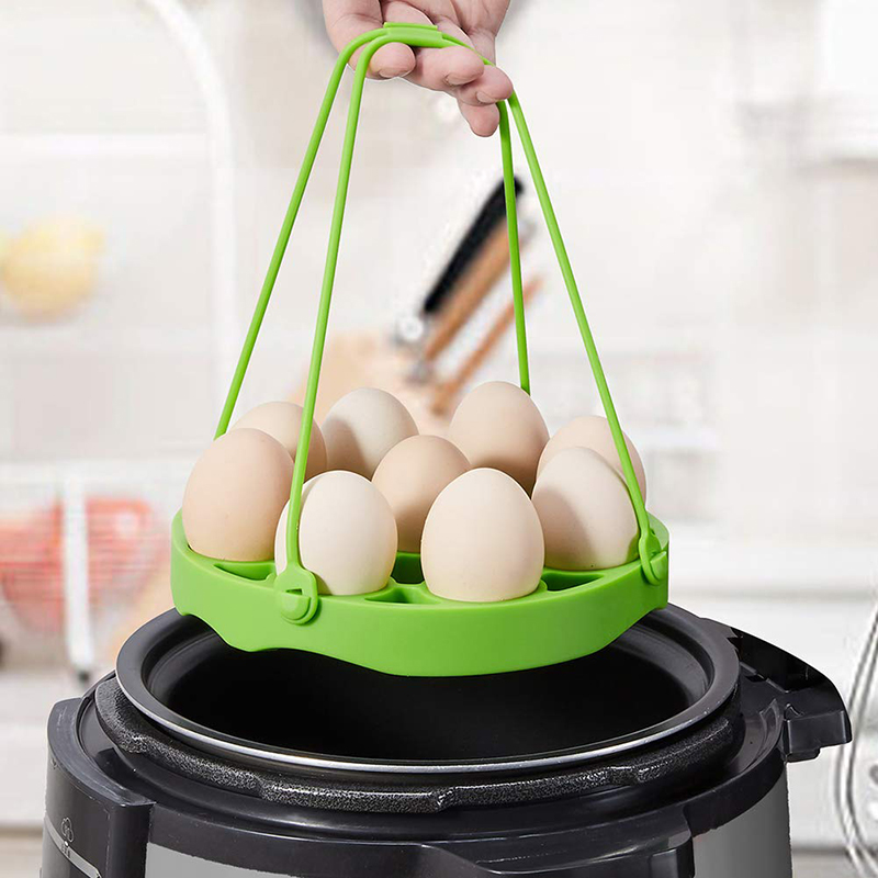 Silicone Egg Bites Molds And Egg Steamer Rack Trivet With Slings Compatible With Instant Pot Pressure Cooker Accessories