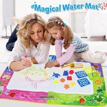 Big Size 150x100cm magiczna mata wodna z 4 sztuk doodle długopisy znaczek narzędzia woda rysunek malarstwo Mat dla zabawki edukacyjne dla dzieci [