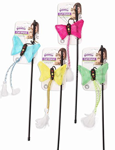 Pawise - Insect Wand Assorted Cat Toy