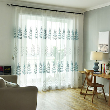 Modern European Christmas Curtain Tree Embroidered Curtains For Living Dining Room Bedroom Yarn Tulle White Curtain Cloth Yarn Buy At The Price Of 13 86 In Aliexpress Com Imall Com