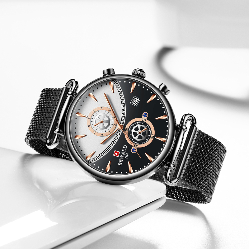Image 2 - REWARD Chronograph Mens Watch Top Brand Luxury Military Sport Watches Fashion Stainless Steel Watch Men Clock Relogio MasculinoQuartz Watches   -