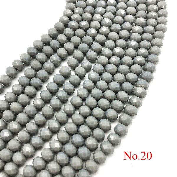 3x4 мм/4x6 мм/6x8 мм Хрустальные Круглые граненые стеклянные бусины для самостоятельного изготовления ювелирных изделий Аксессуары для ювелирных изделий - Цвет: No.20