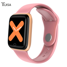 Fashion Women Mens Pink/Black Smart Watch 2020 Fitness pedometer sports watches Woman Smartwatch For Android IOS Men Smart-watch makibes x5plus smart watch black