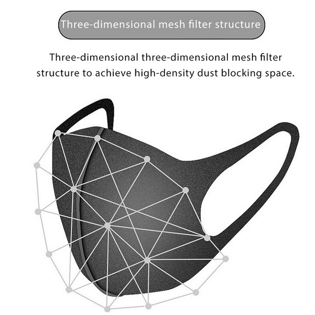 Nano-polyurethane Black Mouth Mask Anti Dust Mask Activated Carbon Windproof Mouth-muffle Bacteria Proof Flu Face Masks 5