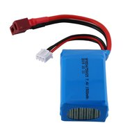 7.4V 1500mAh Rechargeable Battery Lipo Battery RC Lithium Battery RC Car Set for WLtoys A959 b/A969 b/A979 b/K929 B|Parts & Accessories| |  -