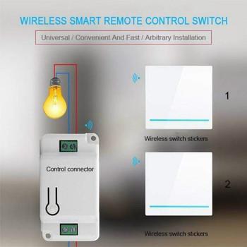 Bezprzewodowy włącznik ścienny przełącznik zdalnego sterowania inteligentny przełącznik On-Off Panel urządzenia nadajnik przełącznik bezpieczeństwa 110V 220V lampa światła tanie i dobre opinie CN (pochodzenie) Wireless Akrylowe PRZEŁĄCZNIKI Wireless Light Switch Receiver Kit Pilot Wireless Wall Switch Remote
