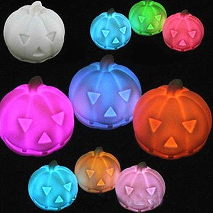 Colorful LED Glowing Pumpkin Night Light Halloween Night Light Children Glowing Toy