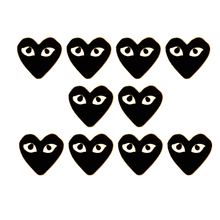 10PCS/Lot Heart Brooches For Women Men Enamel Pin Heart Badges Hat Coat Accessories Scarf Buckle Jewelry Gift Pins Wholesale