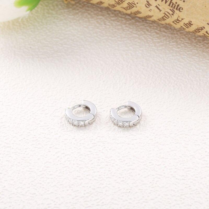 Moonmory 925 en argent Sterling Super petit Piercing boucles d'oreilles pour les femmes cristal Zircon polyvalent mode bijoux cadeaux de noël 5
