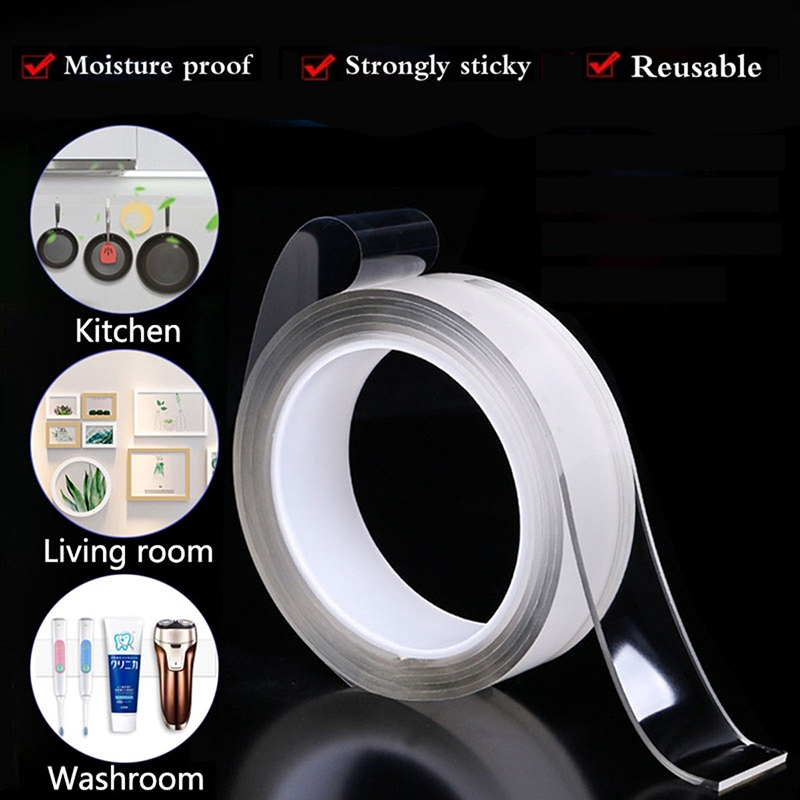 Kitchen Sink Waterproof Mildew Strong Self-adhesive Transparent Tape Bathroom Toilet Crevice Strip Self-adhesive <font><b>Pool</b></font> <font><b>Water</b></font> Seal image