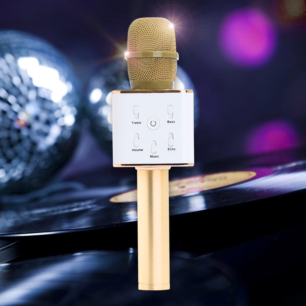Q9 Wireless Bluetooth Microphone Portable Karaoke Stereo USB Player Home KTV