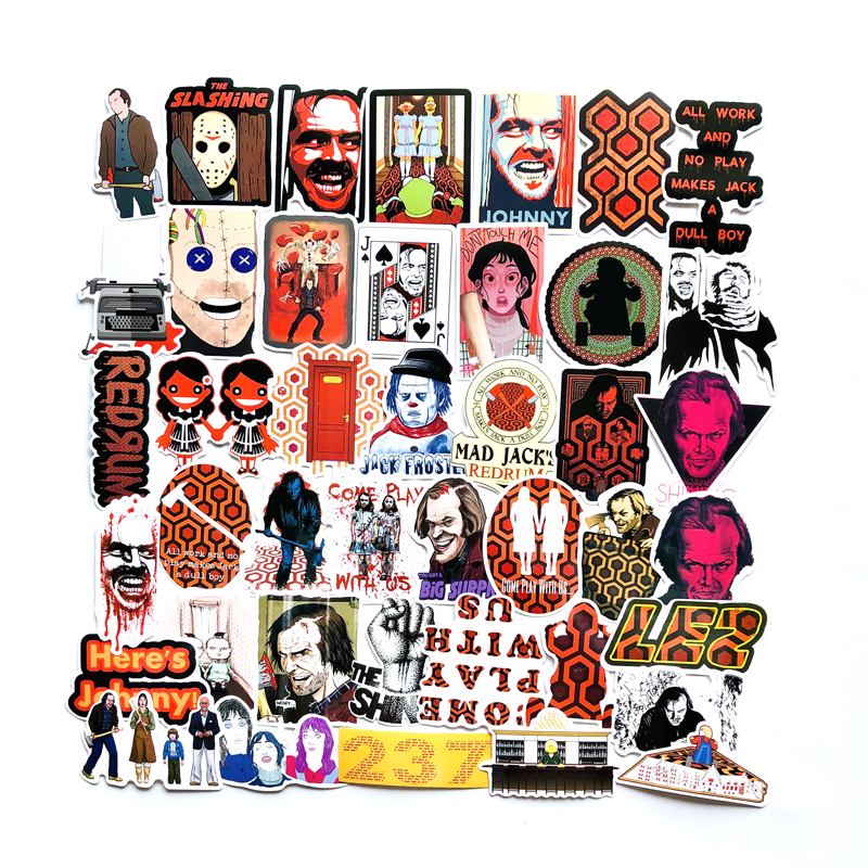 45PCS Pack Horror Movie Stickers The Shining Stickers For Kids Luggage Skateboard Laptop Decals Children Toy