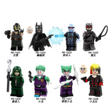 PG8186 8PCS Set Building Blocks Super Heroes Bricks Girl Joker Bane Catman Batman Riddle Clown Figures For Children Doll Toys недорого