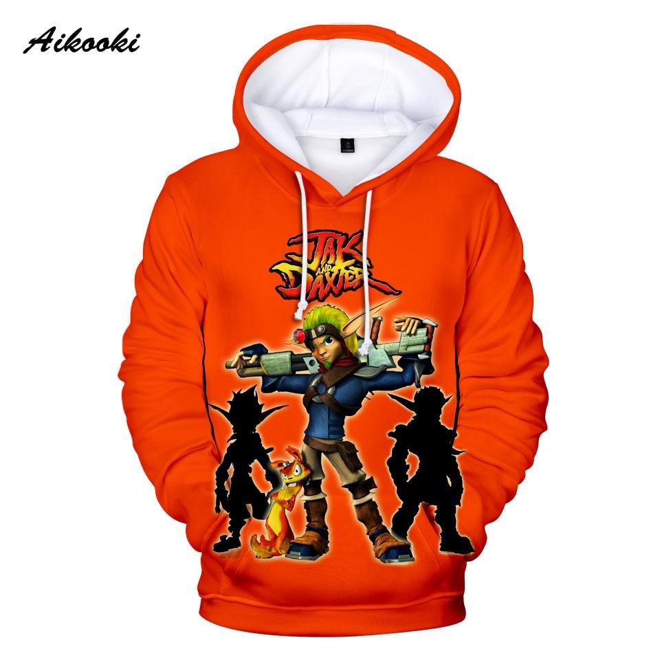 2020 Hot Game Jak and Daxter Hoodies 3D Anime Hoodie Sweatshirt Cartoon Pullovers Jak Daxter Long Sleeve 3D Print High Quality