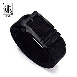 LFMB-cinturón táctico ajustable para hombre, cinturón táctico militar de alta resistencia con hebilla de Metal, cinturón de nailon, accesorios de caza