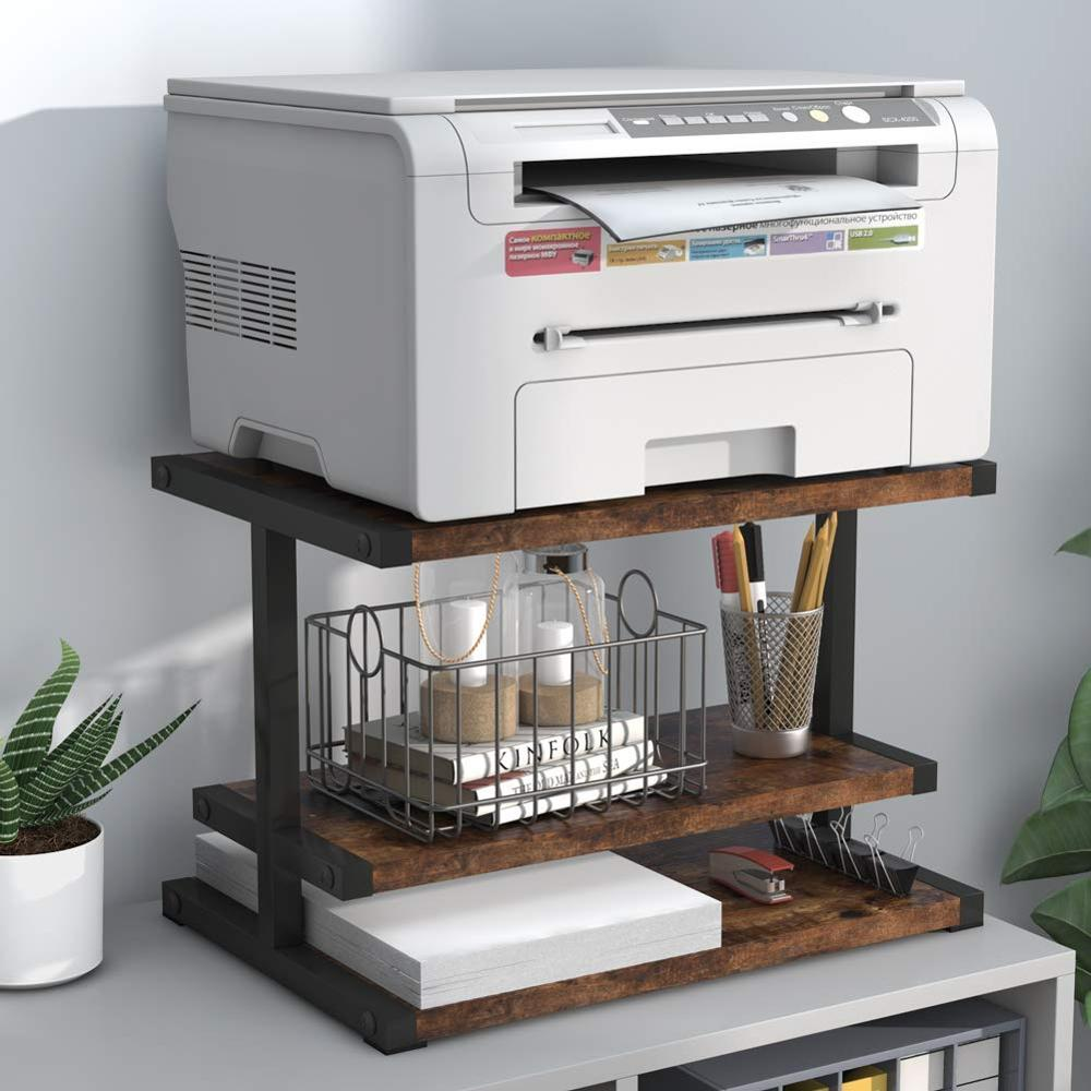 Tribesigns Industrial Printer Stand, Home And Office Paper Storage Box, Multifunctional Three-tier Shelf