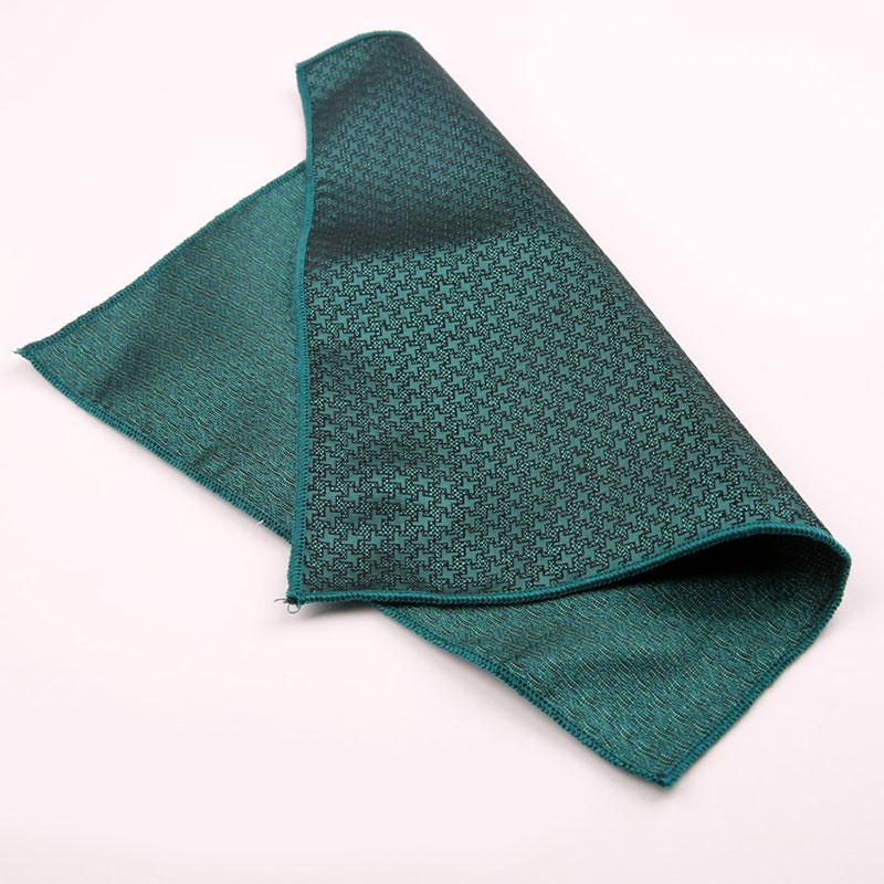 Hot Men Business Vintage Satin Embroidery Paisley Handkerchief Pocket Square Floral Chest Towel Hankies Suit Accessories 23*23cm