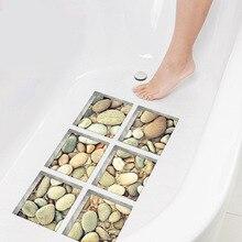Funlife 3D Anti Slip Waterproof Bathtub Sticker,Self-adhesive Tub Decal,Cobblestone pattern For Shower Bath Mats Bathroom Decor