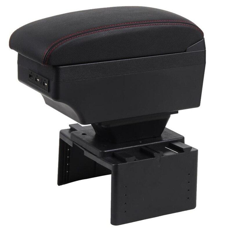 Para caja de reposabrazos lada priora carga USB aumentar doble capa 01-15
