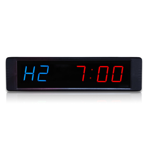 "1"" Hot selling Led crossfit timer garage timer sports training clock gym tabata timer(China)"