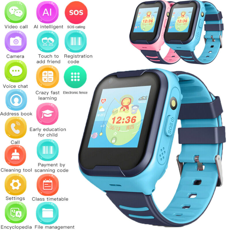 Smart Watch with GPS LBS Locator Touch Screen Tracker SOS for Kids Children Waterproof Safe Tracker Smart Wrist Watch Wristband