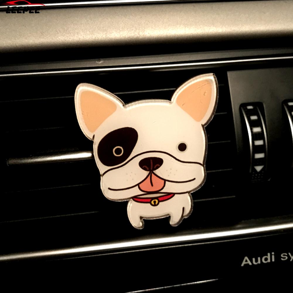 Car Air Vent Perfume Solid Fragrance Car-styling Funny Cute Dogs Shape Air Freshener