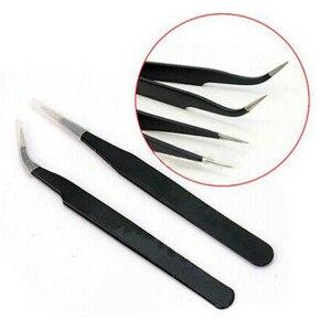 2 шт., антистатические щипцы для маникюра из нержавеющей стали